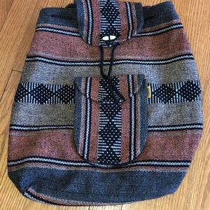 Handbags - Woven fabric drawstring backpack 🎒
